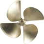 Acme 497 Propeller  4 Blade 13 x 17.5 LH 1 1/8 Bore .105 Cup 497 acme propellers,acme prop, acme marine, acme 497 prop,acme 497